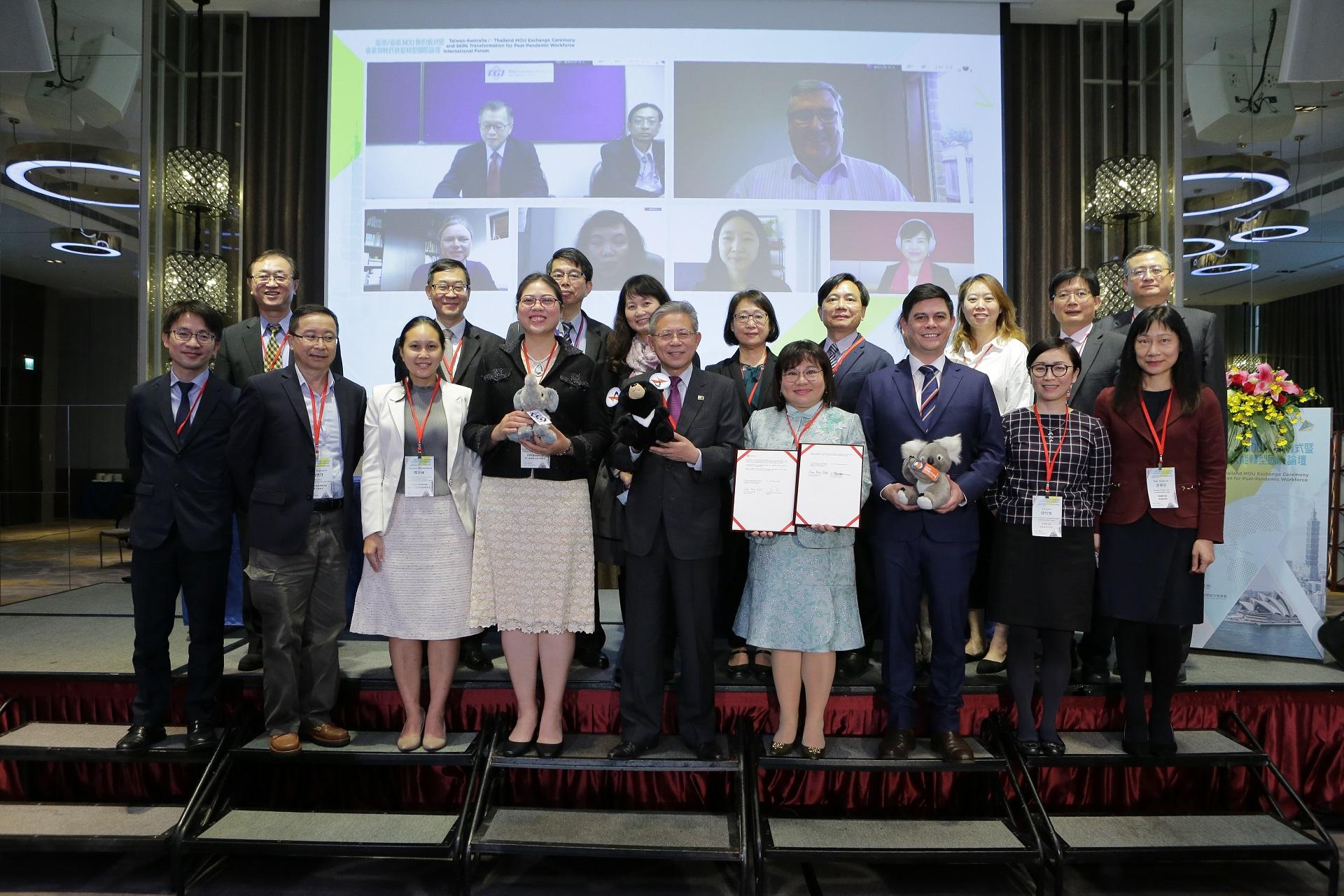 促進亞太地區後疫情時代技能轉型,臺澳/臺泰簽署合作備忘錄。