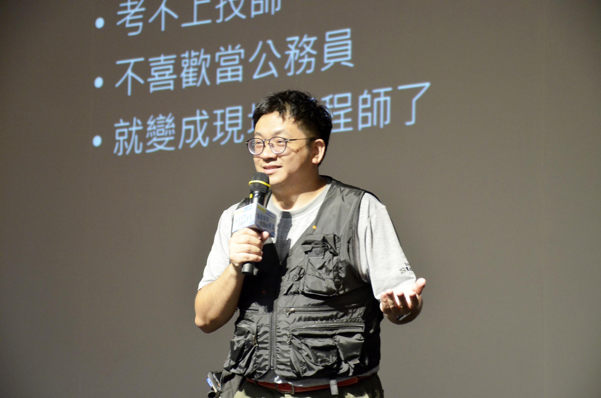 ▲《做工的人》作者林立青台南演講 鼓勵民眾培養難以取代的專業